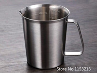 Thickening 304 Stainless Steel Measuring Cup 500ml Milk Tea Cup Coffee Liquid Measuring Cup With Graduated