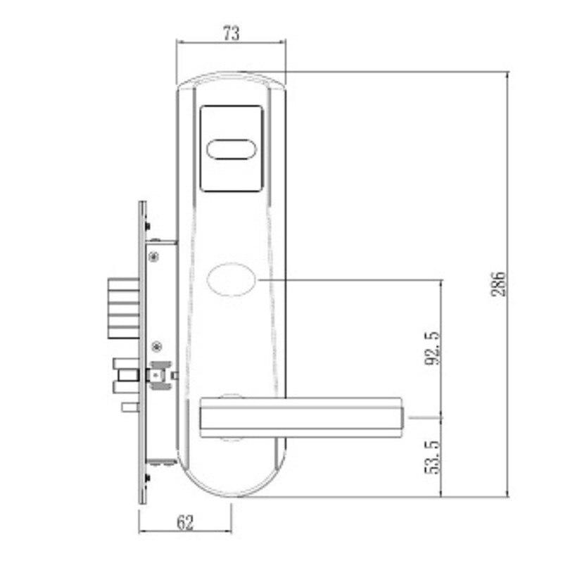 Elektronisk RFID-kort Dørlås med nøgle Elektrisk lås til - Sikkerhed og beskyttelse - Foto 3