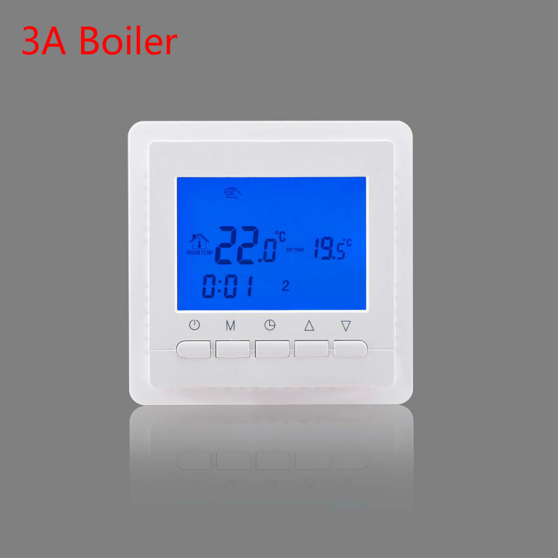 Programmable Room Digital Thermostat for Gas Boiler Heating Temperature Control Wall Mounted Thermostat 220V radio frequency control wireless boiler thermostat temperature controller