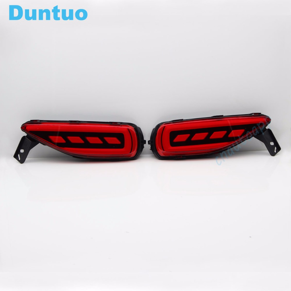 Rear Bumper Warning Light LED Car Lights Brake Lamp Running Lights Turn Signal Light For Toyota  Fortuner 2015/2016/2017 led rear bumper warning lights car brake light running lamp for toyota land cruiser 2016