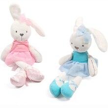 Miękkie pluszowe zabawki dla królików niemowlę Mobiles grzechotki dzieci Bunny Sleeping Mate Baby nadziewane pluszowe zabawki dla zwierząt noworodka Appeaze Doll