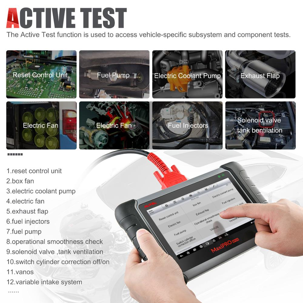 Image 5 - Autel MaxiPRO MP808K Auto Diagnostic auto Tool OBD2 Code Reader Scanner OBD car diagnostic scania automotivo vag com like DS808K-in Engine Analyzer from Automobiles & Motorcycles