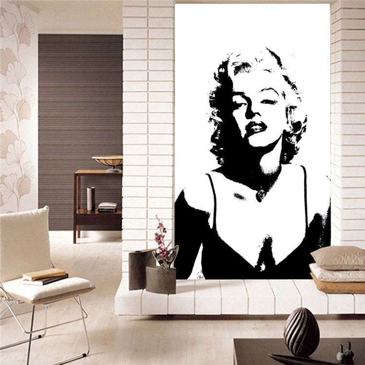 Classic Marilyn Monroe Photo Wallpaper Custom Elegant Large Wall Mural  Canvas Silk POP Art Wallpaper Room Decor Background Wall In Wallpapers From  Home ... Part 76