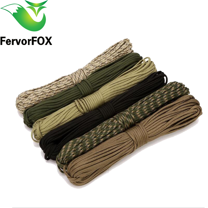 100 colors Paracord 550 10Meter Paracord Rope Type III 7 Stand Parachute Cord Outdoor Camping Survival Rope Wholesale