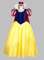 Короткие рукава косплей белоснежка принцесса взрослый костюм ну вечеринку платье косплей платье
