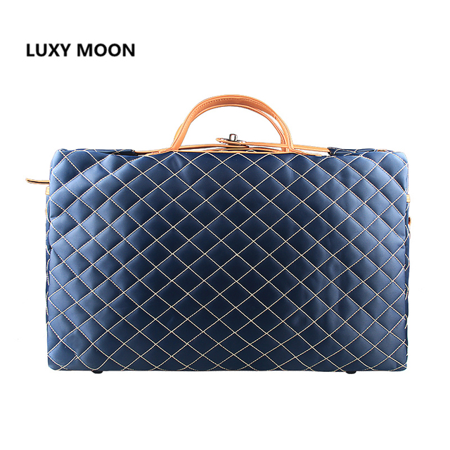 Fashion Large Men Travel Bags Polyester Plaid Lattice Duffle Business  Weekend Bags Traveling Totes Handbags canvas 09433664308b2