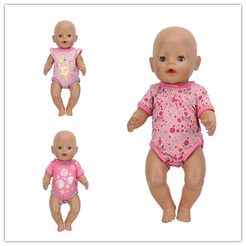 2Color Choose Colorful Jumpsuits Wear fit 43cm Baby Born zapf, Children best  Birthday Gift(only sell clothes) meired grid jumpsuit hat wear fit 43cm baby born zapf children best birthday gift only sell clothes