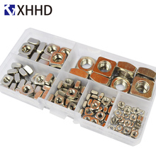304 Stainless Steel Square Nut Metric Threaded Nuts Fastener Hardware Set Assortment Kit Box M3 M4 M5 M6 M8 M10
