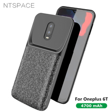 NTSPACE 4700mAh Back Clip Battery Charger Cases For Oneplus 6T Ultra Thin Power Bank Charging Cover One Plus Case