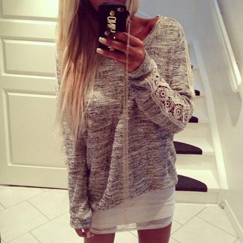 Fashion Womens Summer Long Sleeve T-Shirt Casual Loose Cotton Tops T Shirt