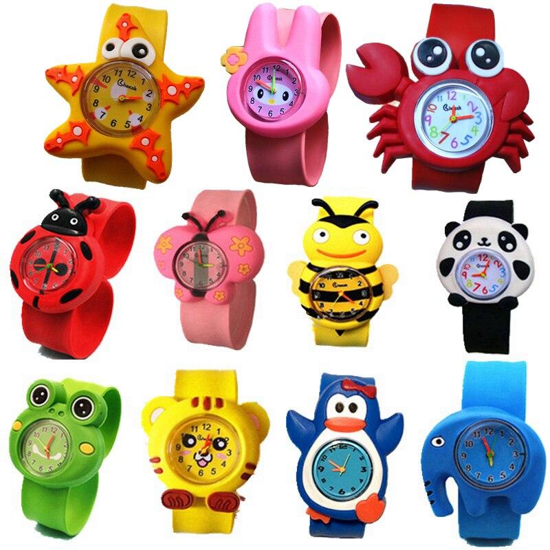 Fashion kids children 3D cartoon cute animal slap sport watches wholesale boys girls candy jelly birthday