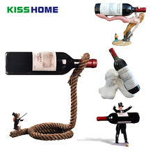 Creative Shaped Wine Holder Synthetic Resin Rabbit/Cat/Dog/Magician/Angel/Mermaid/Sculpture Rack Household Accessories