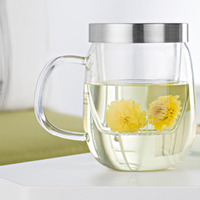 Clear Office Water Bottle Handle Double Wall Glass Jar Goblet Drinking Jars Kettle Water Cup Portable Designs Creative Bottles 5