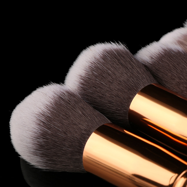 10Pcs Kabuki Style Professional Soft Marble Pattern Makeup Brush Set Foundation Blusher Face Loose Powder Beauty Makeup Brushes