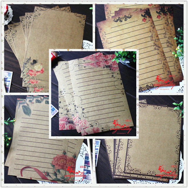 continental retro lace flower totem love letter paper letter writing stationery sets 8
