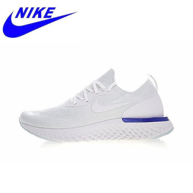 Original New Arrival Authentic Nike Epic React Flyknit Mens Running Shoes Sneakers Sport Outdoor Good Breathable AQ0067-100