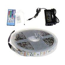 Светодиодные Полосы Света RGBW Двухрядные 5050 RGB + 2835 Белый/Теплый Белый Гибкий Свет 120 светодиодов + 40key ИК-Пульт + 12В 8A питания
