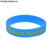 OneBandaHouse 1 шт. детский размер браслет предупреждение медицинский аллергический силиконовый браслет 5 цветов