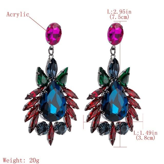 Серьги с кристаллами для женщин большие богемные висячие серьги