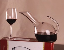 1PC 1000ml Glass Decanter Bevel Spout Wine Decanter Aerator Container Wine Dispenser Carafe with Handle Wine Bottle Jug J1106 цена