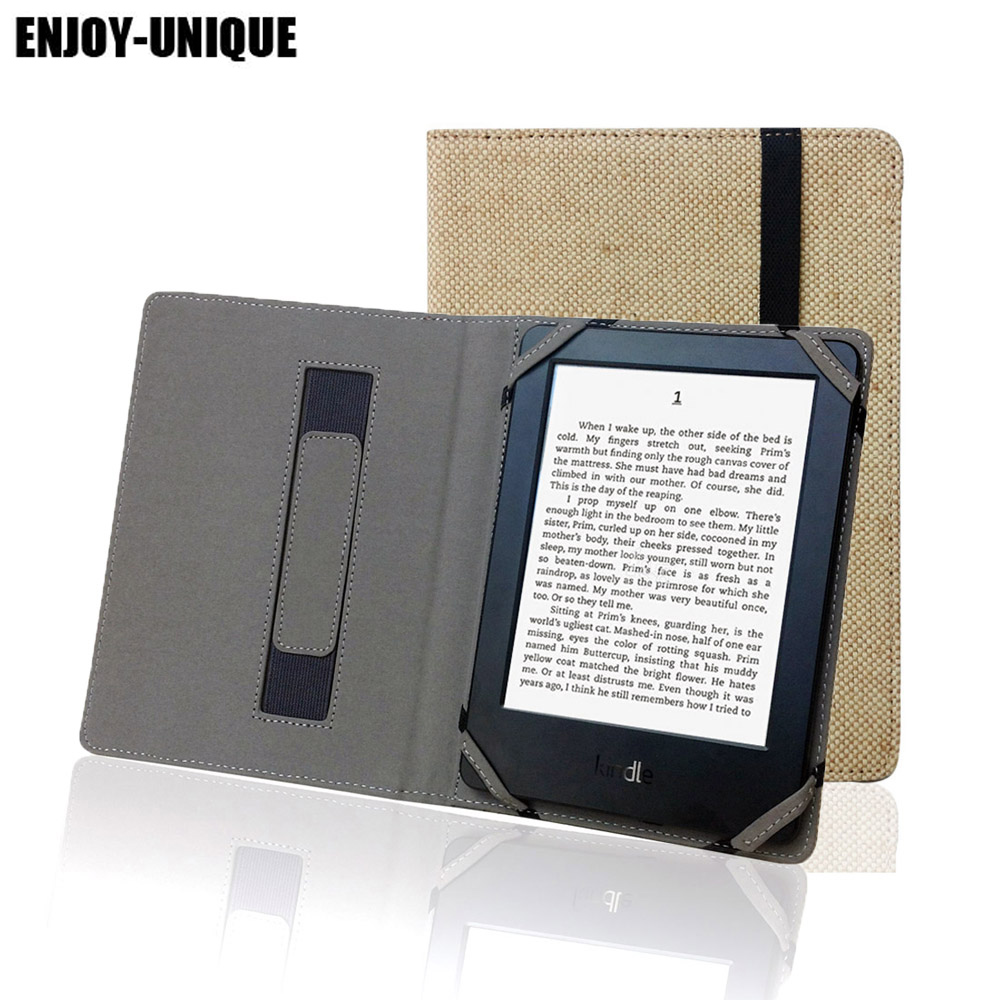 US $11 74 9% OFF|Aliexpress com : Buy Natural Flax Case For Kindle 4 5 6 7  8 Touch Paperwhite eReader Hemp Cover Protective Holster pouch Linen Case