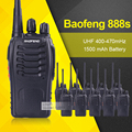 10 unids/lote bf baofeng bf-888s walkie talkie 5 w walkie talkie 888 s uhf 400-470 mhz 16ch dos vías raio transceptor portátil