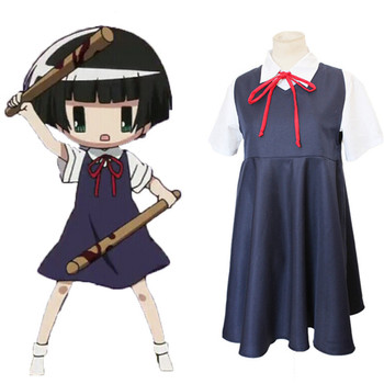 Halloween costumes Gugure! Kokkuri-san Kohina Ichimatsu Cosplay Costume Japanese School Uniform for women Dress + shirt 2PCS set