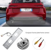 Европейский автомобиль номерной знак рамка светодиодный LED резервная камера автомобили номерной знак держатель кронштейн Парковка заднего вида Cam Авто Accessoies