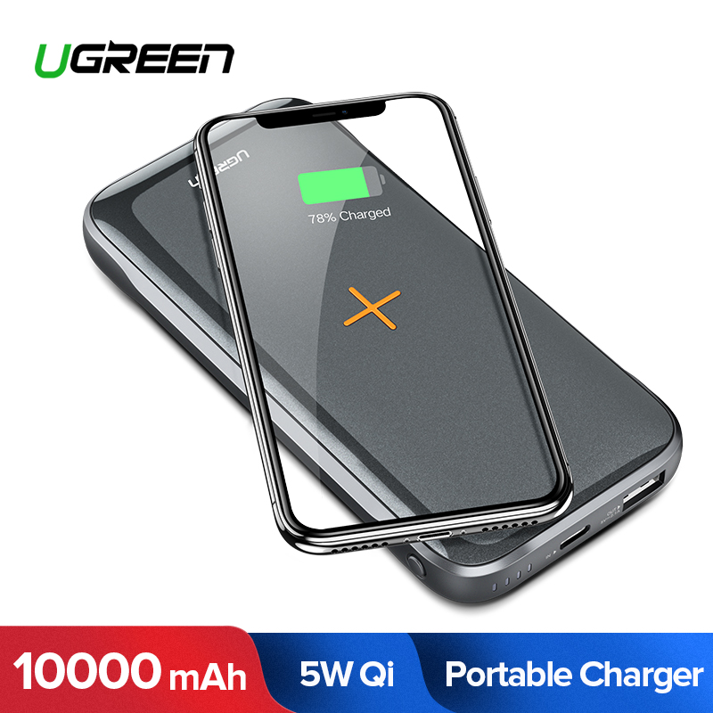Ugreen Power Bank 10000mAh Portable Charger Wireless Poverbank External Mobile Phone Battery Charger for Xiaomi Powerbank 10000Ugreen Power Bank 10000mAh Portable Charger Wireless Poverbank External Mobile Phone Battery Charger for Xiaomi Powerbank 10000