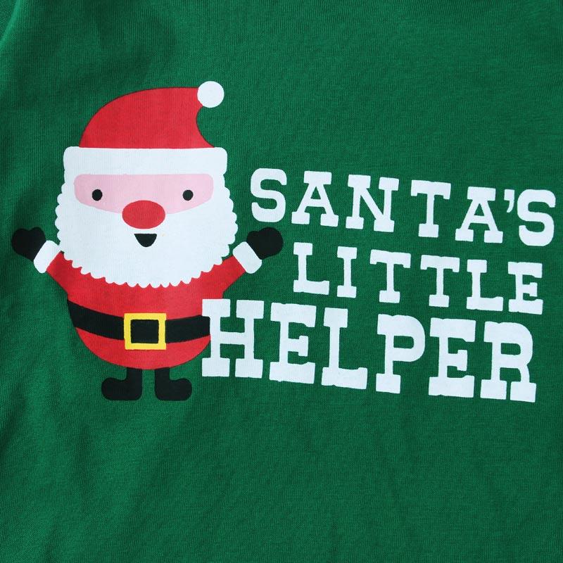 New Santa Claus Kids Pajama Sets Tops+Pants Children Sleepwear Boys Girls Nightwear Family Christmas Pyjamas YH-17