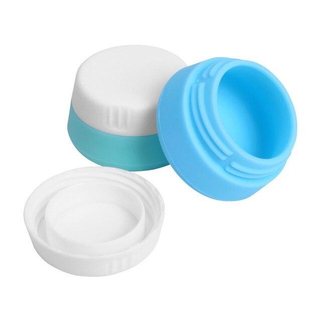 1 шт. силиконовые крем многоразового банки, контейнер с закрытыми Крышки чехол для Туристические товары, личный стиральная туалетных принадлежностей банки