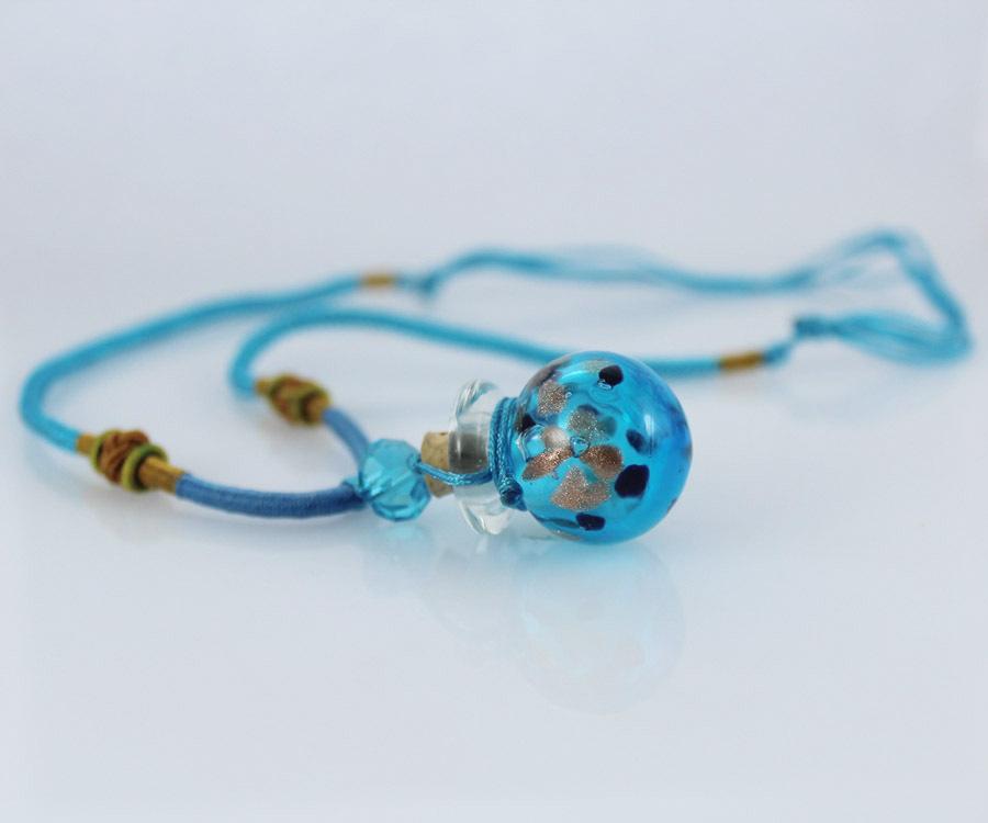Винтажное женское ожерелье из стекла с эфирными маслами ароматерапия