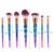 Konmison Rainbow Cabelo Diamante Maquiagem Cosméticos Brushes Set Fundação sombra de Olho Blush Em Pó Unicórnio Misturando compo a Escova