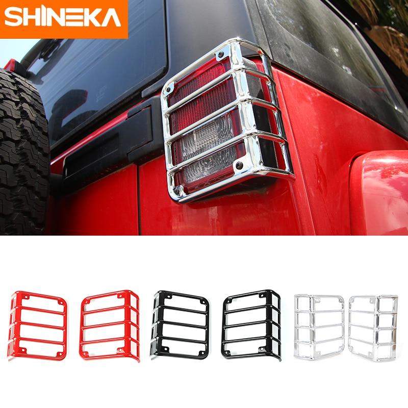 SHINEKA Железный задний светильник, кронштейн для крепления, защитная крышка для задней лампы для Jeep Wrangler JK 2007 + 4x4 внедорожника