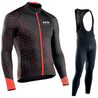 NW 2019 Pro team Cycling Jersey Clothes autumn Northwave men's long sleeve suit Breathable outdoor riding bike MTB clothing set