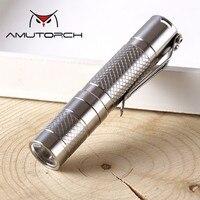 Amutorch Newest Cree XPG3 S3 LED flashlight,Small stainless steel EDC AA flashlight torch