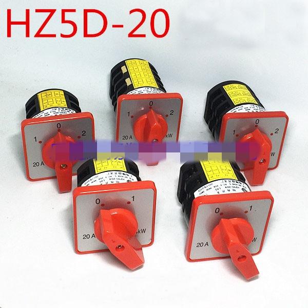 AC 380V 20A 4KW HZ5-20//4 M06 Self-Locking Rotary Cam Changeover Switch
