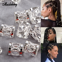 Metal Iron Sheet Hair Rings Beads Decoration For Dreadlocks Braid Fashion Style Golden Silver Adjustable Ornament Long