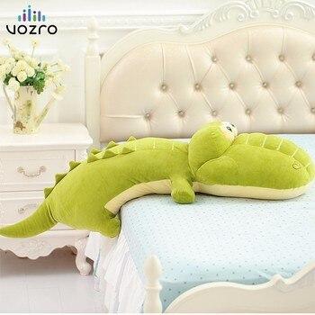VOZRO gran felpa verde almohadilla de dormir espesamiento cuello almohada de viaje cocodrilo muñeca adultos niños piso Coussin Almofadas Overwatch