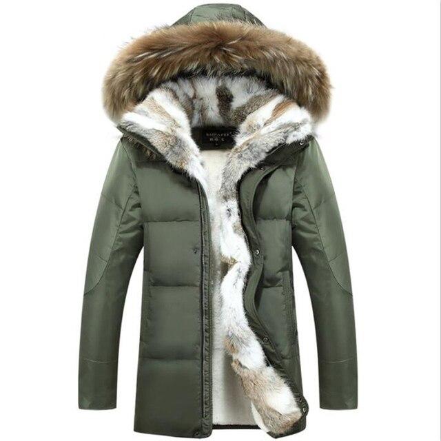new product c4dd4 67473 Neue Mantel Herren Weiße Ente Unten Jacken Pelz Kragen Dicke Warme Parkas  Casual Schnee Männer Winter 5XL Gans jacken Frauen