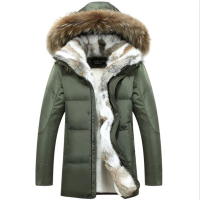 New Coat Mens White Duck Down Jackets Fur Collar Thick Warm Parkas Casual Snow Men Winter Jackets 5XL Goose Coat Jackets Women