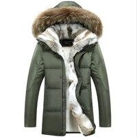 New Coat Mens White Duck Down Jackets Fur Collar Thick Warm Parkas Casual Snow Men Winter Jackets 5XL Goose Coat Jackets Women