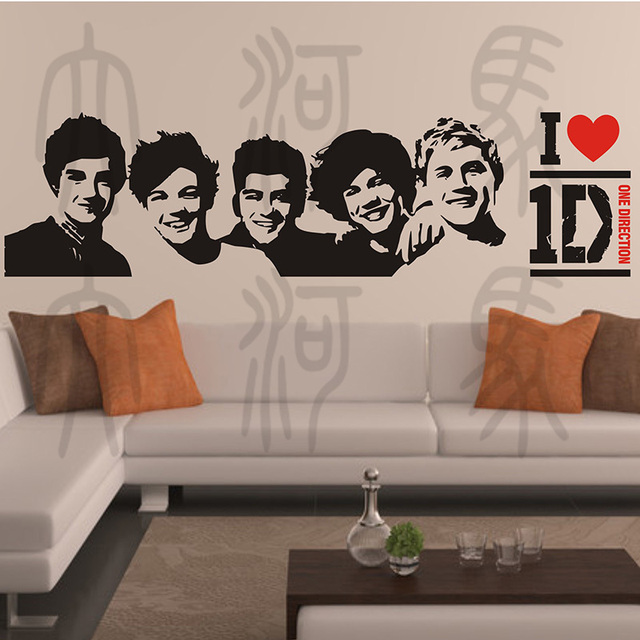 One Direction Lovely Wall Stickers Decoration Decor Home Decals