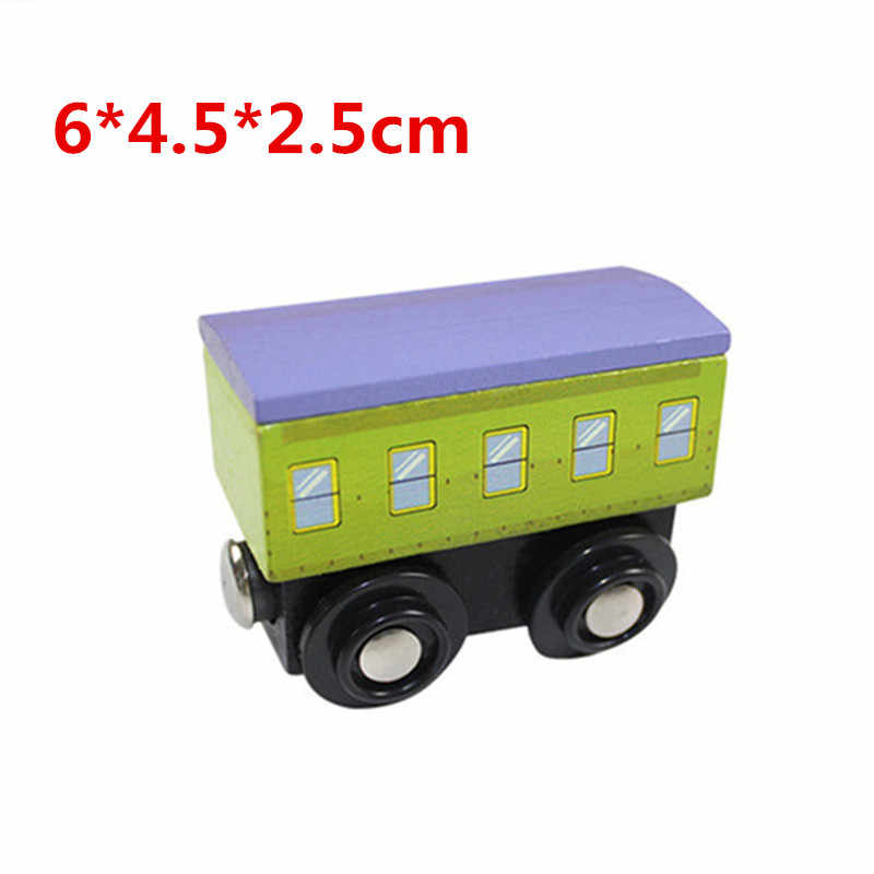 EDWONE wooden magnetic train for Tmas wooden tracks can be connected to the Tmas train variety wooden train VIP compartment