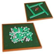 Портативный мини 144 коробка для игры маджонг традиционная игра путешествия складная Mah jong стол