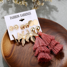 KLEEDER 2019 Long Tassel  Earrings Set Bohemian Geometric Earring Women Girl Christmas Brincos Female Drop For Womens