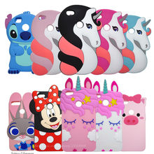 "3D Cartoon Unicorn Silicone Cover For Xiaomi redmi note 5A 5.5"" Cute Horse Rubber Case for xiaomi redmi note 5A prime Phone case(China)"