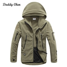 Фотография NEW Brand Winter Military Fleece jacket men warm cotton male Autumn Mens overcoat Tactical Hooded Zippers Coat Outerwear jackets