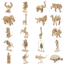 Robotime 3D Wooden Puzzle DIY Animal Assembly Model Wood Craft Kits Desk Decor Toys for Children Kids Drop Shipping Wholesale(China)