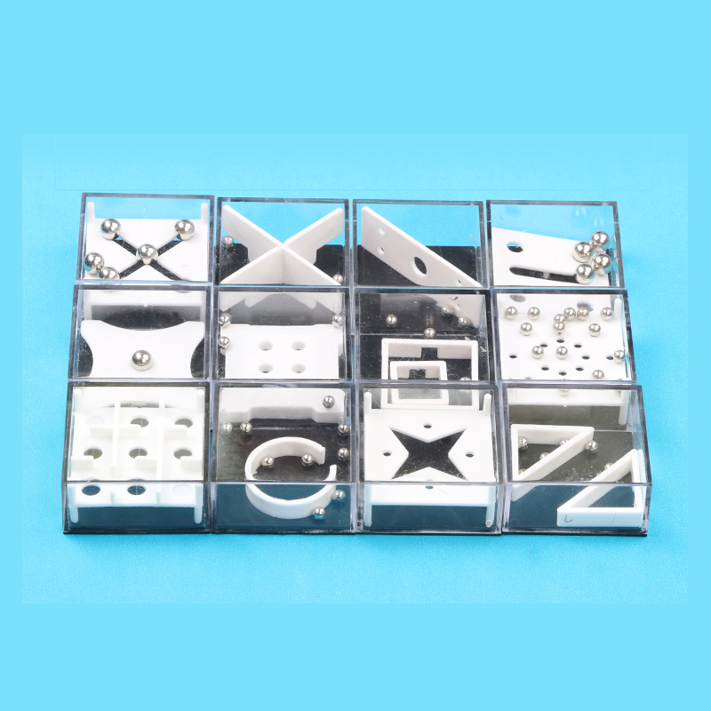 Mini Puzzle Brain Teaser Magic Game Box Anti-pressure Toys Mini Reduce Pressure12PCS Sets Plastic Materials For Family